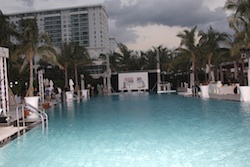 2010 IndyCar Championship Celebration setup at W Hotel in Miami's South Beach (Credit: IRL)