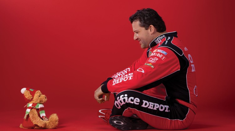 Tony Stewart and 2010 Office Depot Foundation Teddy B Caring Bear