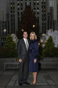 Chandra and Jimmie Johnson in Rockefeller Center, New York City in 2009