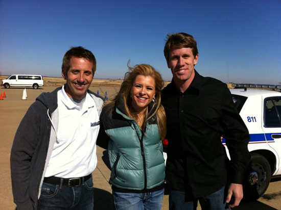 Greg Biffle, Leigh Anne Tuohy and Carl Edwards