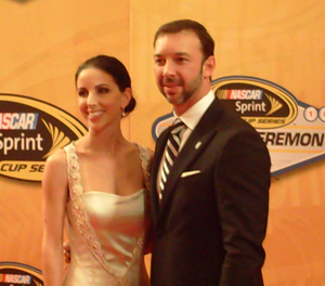 Chad Knaus with his girlfriend, Lisa Rockelmann