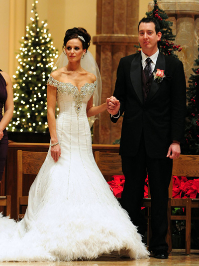 Kyle Busch marries Samantha Sarcinella on December 31, 2010 (credit: Flynet)