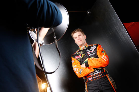 2010 Daytona 500 Champion Jamie McMurray poses during media day Thursday at Daytona International Speedway in Daytona Beach, Fla. (Credit: Todd Warshaw/Getty Images for NASCAR)