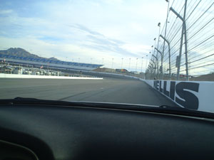 A view Las Vegas Motor Speedway during my ride in the NASCAR pace car