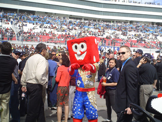 Las Vegas Motor Speedway mascot Pit Boss