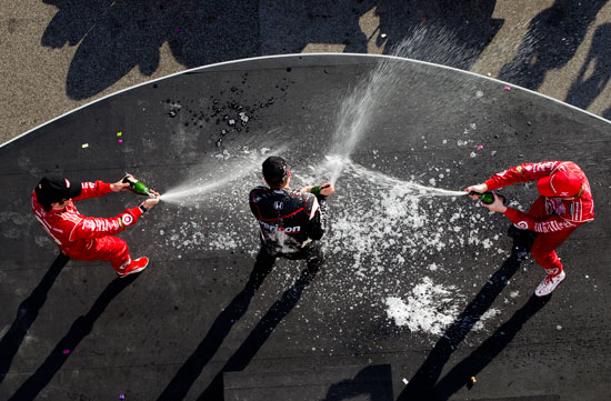 Dario Franchitti, Will Power and Scott Dixon