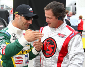 Tony Kanaan and Wally Dallenbach Jr. 