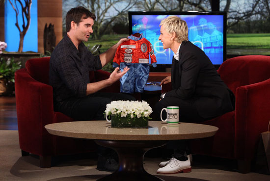 "JEFF GORDON makes an appearance on ""The Ellen DeGeneres Show"" on Friday, March 25th, 2011"