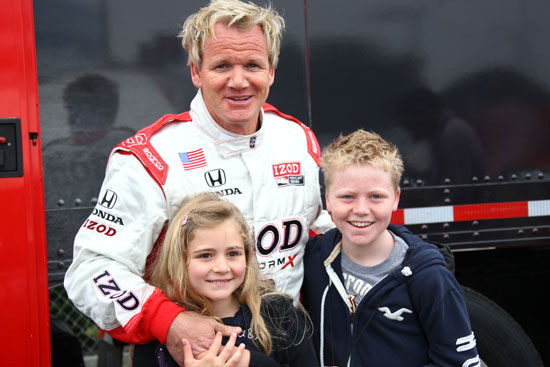 Chef Gordon Ramsay and his children