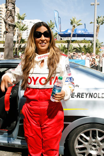 """Good Day L.A."" host Jillian Barberie-Reynolds participated in the 2011 Toyota Pro/Celebrity Race"