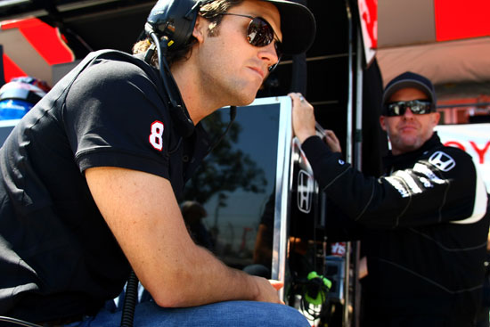 Dragon Racing owner, Jay Penske (left - hulloooo Jay!), and his driver Paul Tracy (right)
