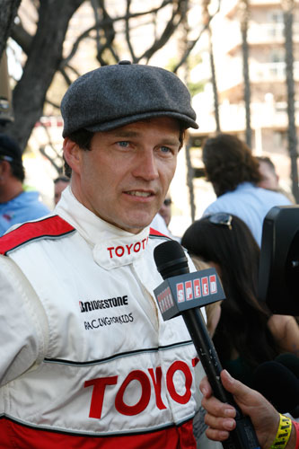 &quot;True Blood&quot; actor Stephen Moyer participated in the 2011 Toyota Pro/Celebrity Race