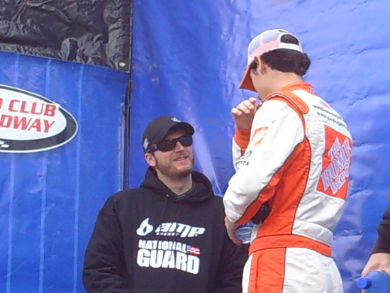 Dale Earnhardt Jr. and Joey Logano