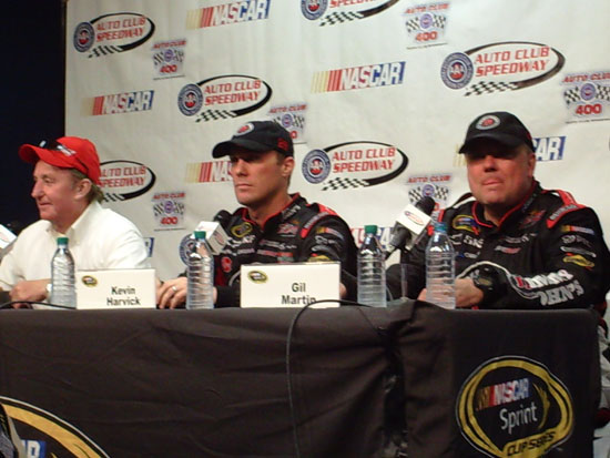 Richard Childress, Kevin Harvick and Gil Martin