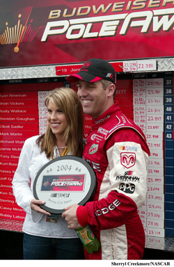 Jeremy and Shana Mayfield at Dover in 2004