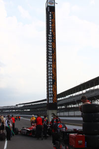 The final 33-car lineup for the 2011 Indy 500