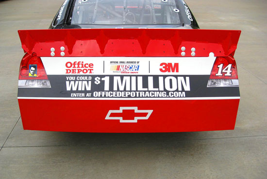 Official Small Business of NASCAR, Courtesy of Office Depot (credit: Action Sports Photography)