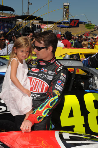 Jeff Gordon and Ella Gordon