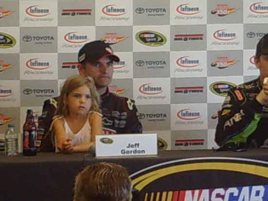 Jeff Gordon and his daughter, Ella