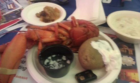 SYLVANIA Lobster Bake food