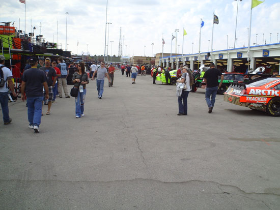 Sprint Cup garage during practice