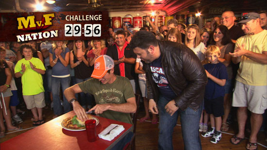 Joey Logano and Adam Richman