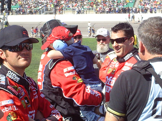 Tony Stewart and Gavin Grubb, held by Darian Grubb