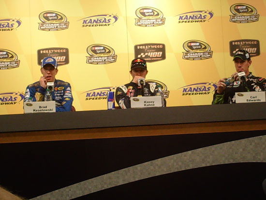 Brad Keselowski, Kasey Kahne and Carl Edwards