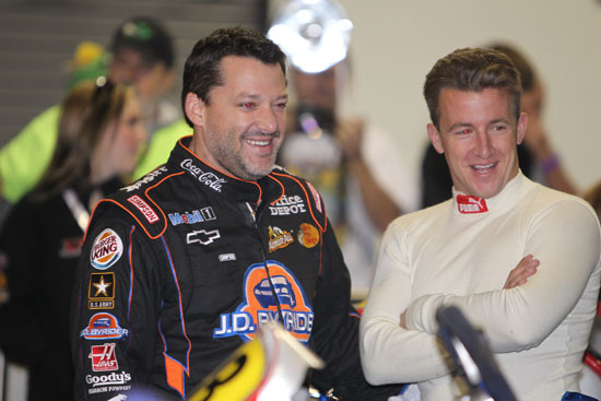 NASCAR drivers Tony Stewart and AJ Allmendinger