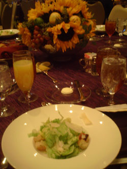 NASCAR NMPA Myers Bros Awards Luncheon salad