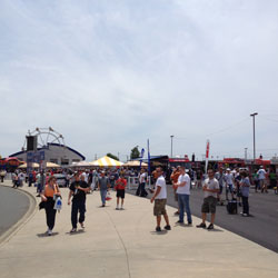 the fan zone at charlotte motor speedway