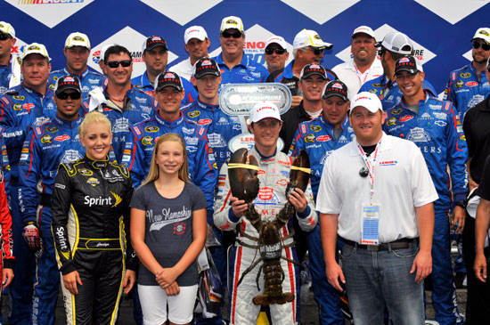 Kasey Kahne, driver of the No. 5 Farmers Insurance Chevrolet, won the July 15 NASCAR Sprint Cup event at New Hampshire Motor Speedway. (Courtesy of Hendrick Motorsports)