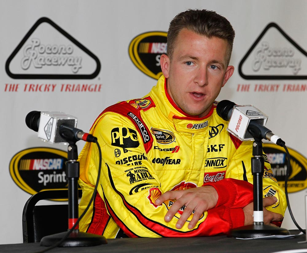 2012-Pocono-June-NASCAR-Test-AJ-Allmendinger-News-Conference