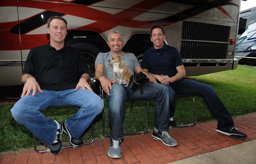 On Saturday, Sept. 1, Greg Biffle and Kevin Harvick will each team up with Cesar Millan to get help for their canine friends in an all-new episode of Dog Whisperer on Nat Geo Wild at 8 p.m. ET. Filmed in Daytona in February, Cesar visits Halifax Humane Society, a grant recipient of the Biffle Foundation, with Biffle himself and his wife, Nicole. He will also help Kevin and DeLana Harvick with their Chihuahua, Lo, who barks and snaps at people, before the couple welcomes their first child. (Credit: NatGeo Wild)
