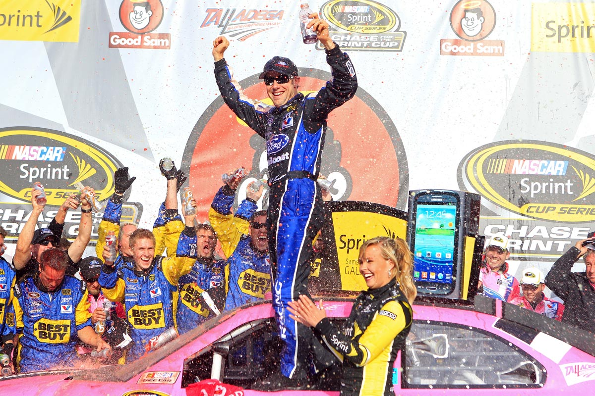 2012-Talladega-Matt-Kenseth-Celebrates-In-Victory-Lane