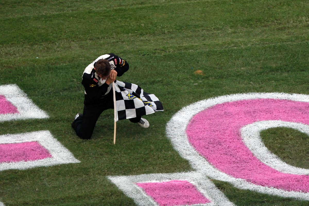 parker-kligerman-plants-checkered-flag-talladega-nascar-truck-series-victory-lane-2012