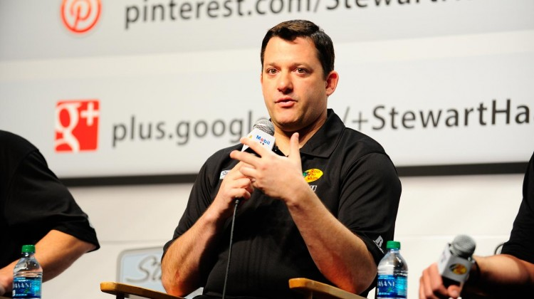 Tony Stewart of Stewart Haas Racing speaks at a press conference on January 21, 2013 in Concord, North Carolina. (Credit: Jamey Price/Getty Images for NASCAR)