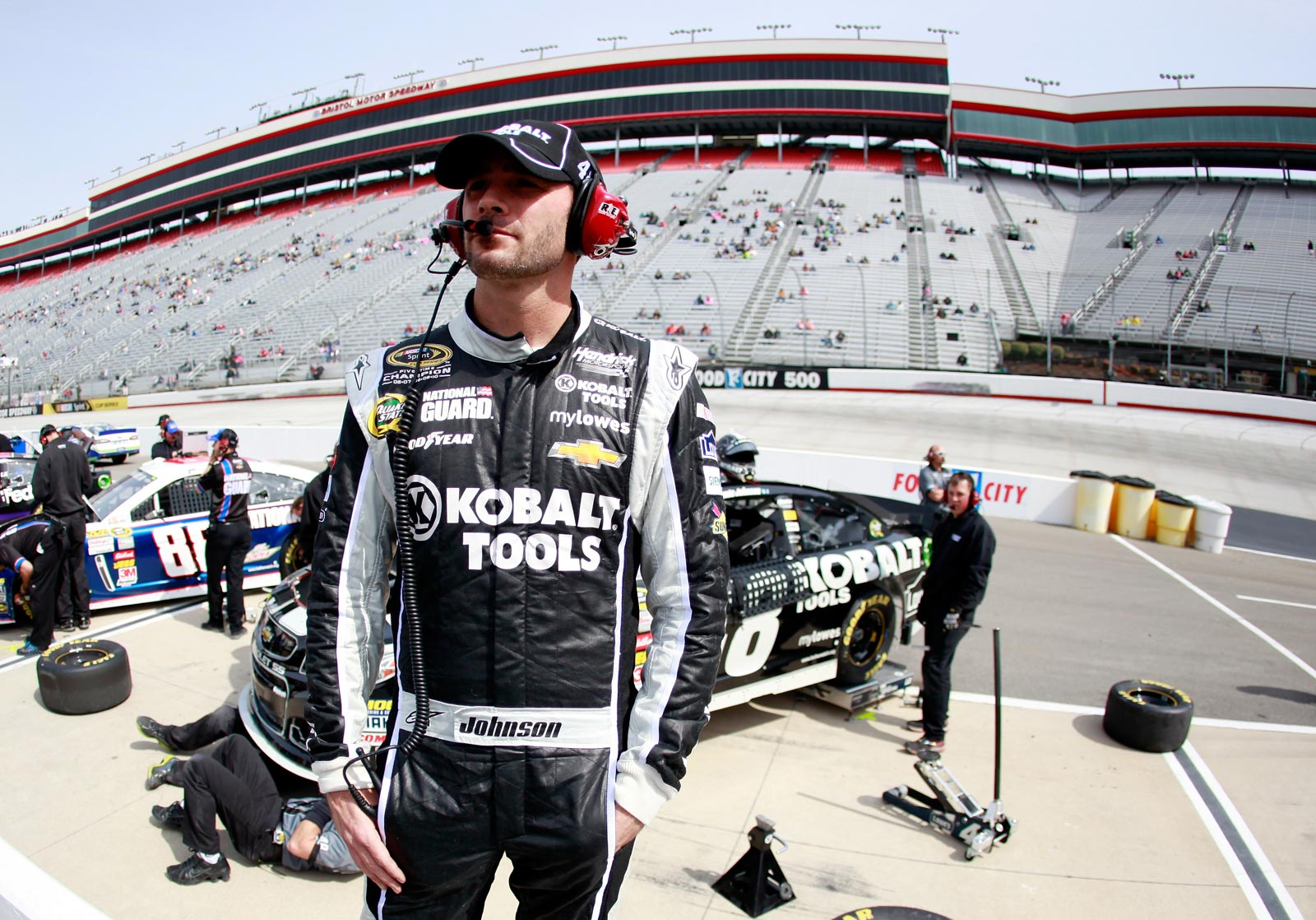 2013-Bristol1-March-Jimmie-Johnson-Waits-On-Grid
