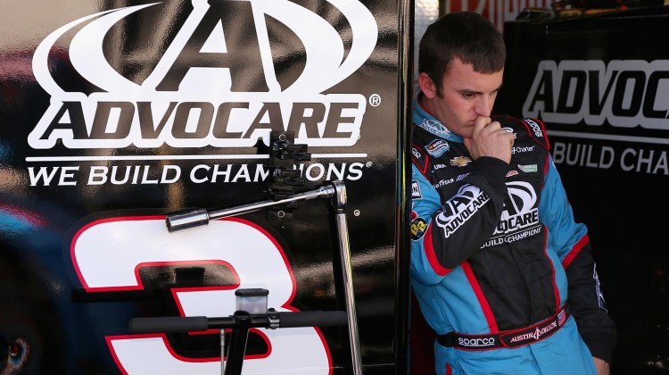 Austin Dillon, driver of the #3 AdvoCare Chevrolet, looks on during practice for the NASCAR Nationwide Series Dollar General 200 fueled by AmeriGas at Phoenix International Raceway on March 1, 2013 in Avondale, Arizona. (Credit: Christian Petersen/Getty Images)