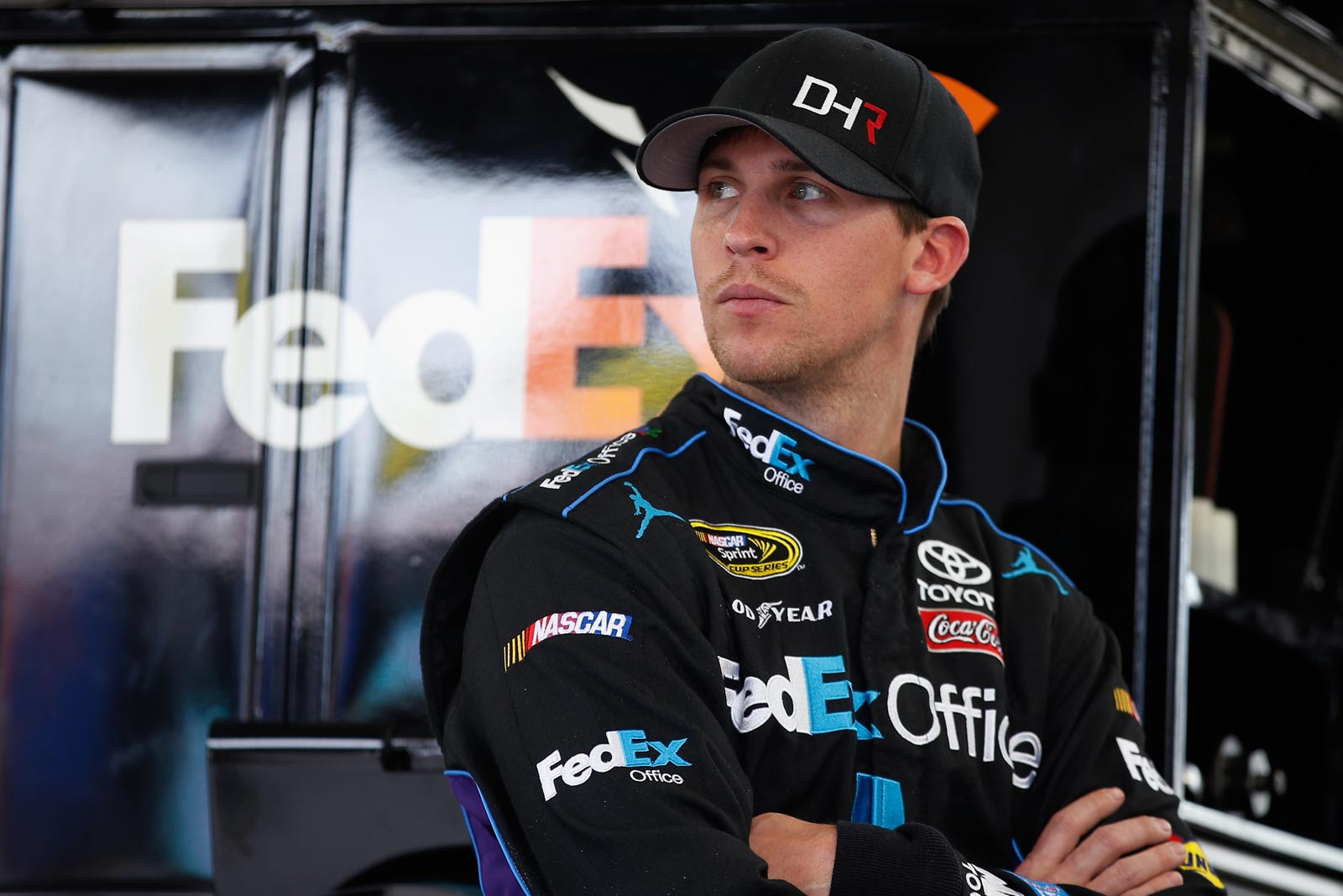 2013-Vegas-March-Denny-Hamlin-At-Hauler