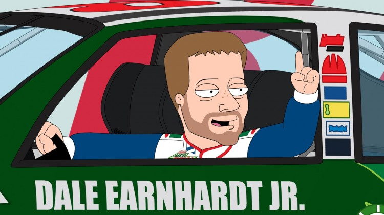 "Dale Earnhardt Jr. on ""The Cleveland Show"" (Credit: Fox)"