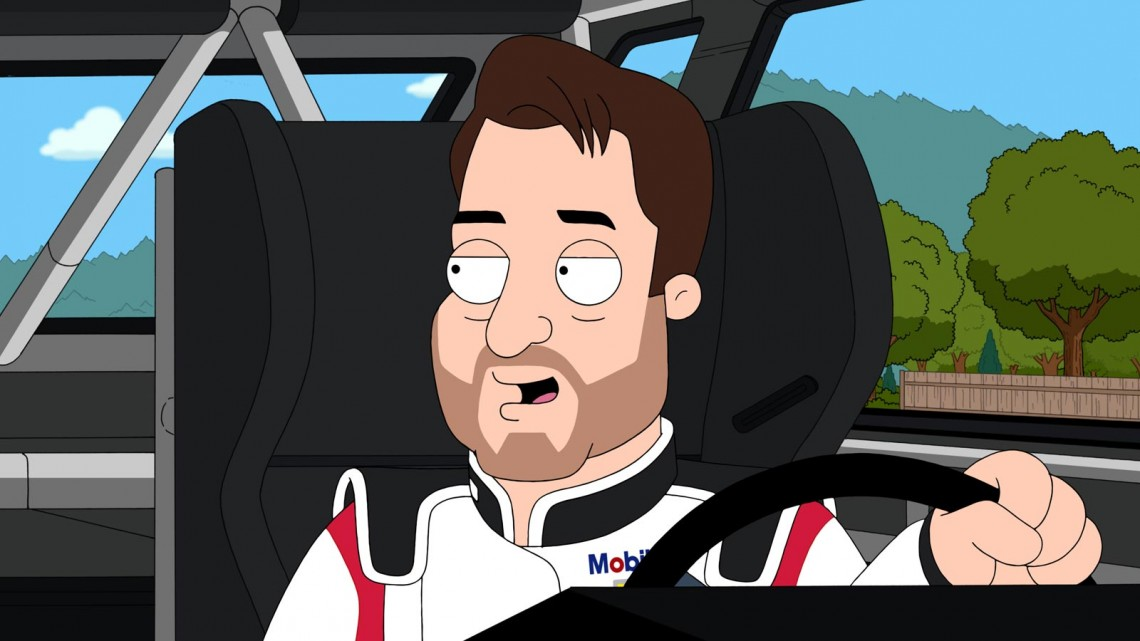 "Tony Stewart on ""The Cleveland Show"" (Credit: Fox)"
