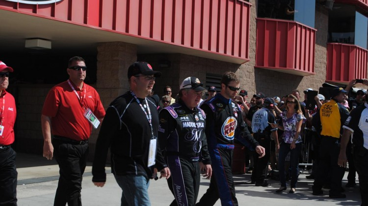 Joe Nemechek and Travis Kvapil (Credit: Heather Baker / The Fast and the Fabulous)