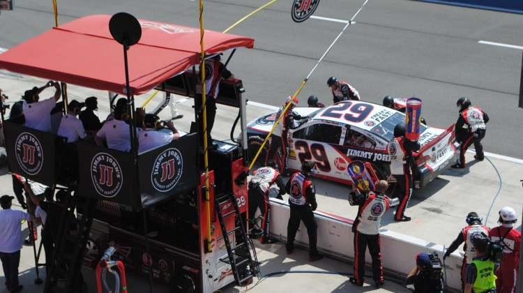 The No. 29 Jimmy Johns crew makes a pit stop. (Credit: Heather Baker / The Fast and the Fabulous)
