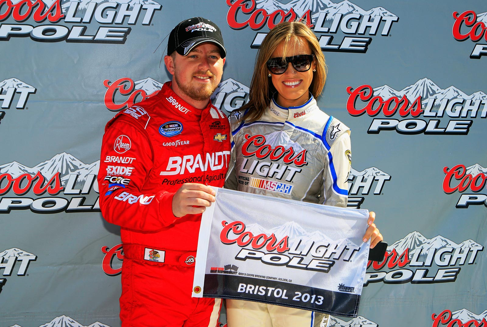 justin-allgaier-rachel-ruper-miss-coors-light-bristol-nascar-march-2013