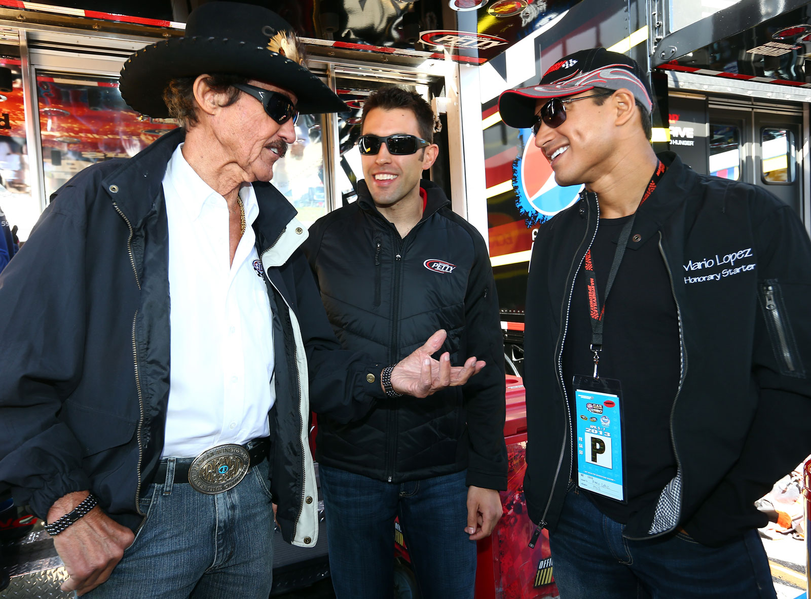 Mario-Lopez-Richard-Petty-Aric-Almirola-Martinsville-NASCAR-April-2013