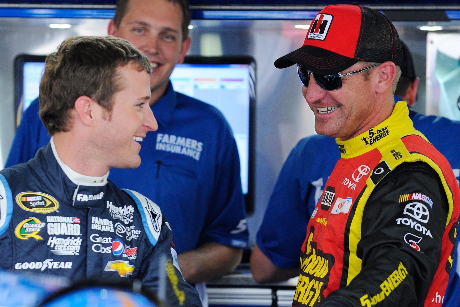 2013-Charlotte-All-Star-Practice-Kasey-Kahne-Clint-Bowyer