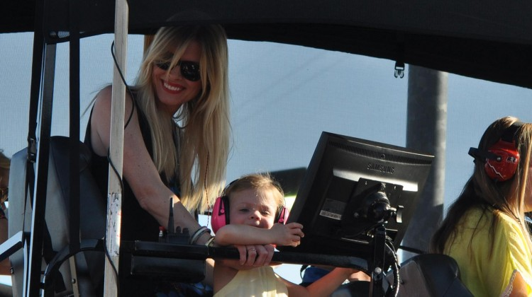 Chandra and Genevieve Johnson at the Coca Cola 600 (Credit: Sumer Purcell)
