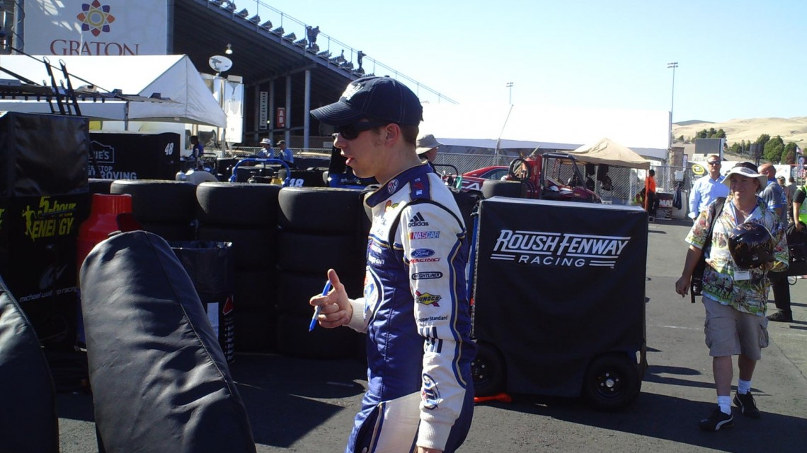Brad Keselowski at Sonoma Raceway on Friday, June 21, 2013. (Credit: The Fast and the Fabulous)