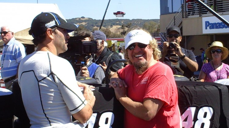 Sammy Hagar smiles for the camera (even though I didn't ask him to!) at Sonoma Raceway on Friday, June 21, 2013. (Credit: The Fast and the Fabulous)
